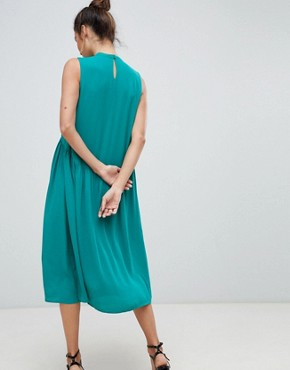 photo High Neck Midi Dress by Y.A.S, color Green - Image 2