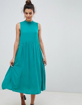 photo High Neck Midi Dress by Y.A.S, color Green - Image 1