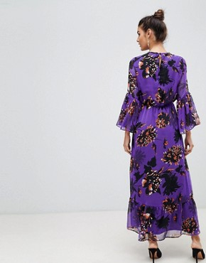 photo Bloom Floral Maxi Dress by Y.A.S, color Purple - Image 2