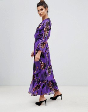 photo Bloom Floral Maxi Dress by Y.A.S, color Purple - Image 1