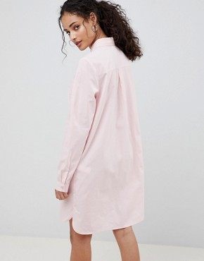 photo Cotton Shirt Dress by ASOS DESIGN, color Pink - Image 2