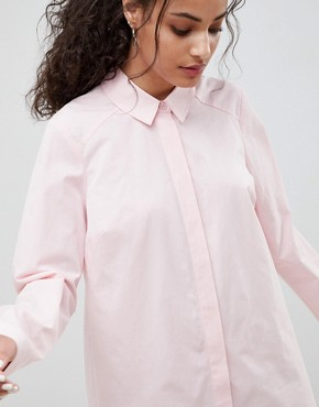 photo Cotton Shirt Dress by ASOS DESIGN, color Pink - Image 3