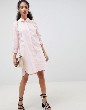 photo Cotton Shirt Dress by ASOS DESIGN, color Pink - Image 4