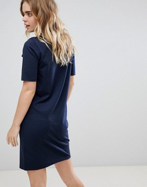 photo Zip High Neck Dress by Ichi, color Total Eclipse - Image 2