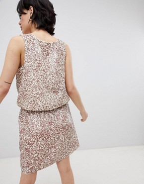 photo Horus Sequin Embellished Dress by Deby Debo, color Off White - Image 2