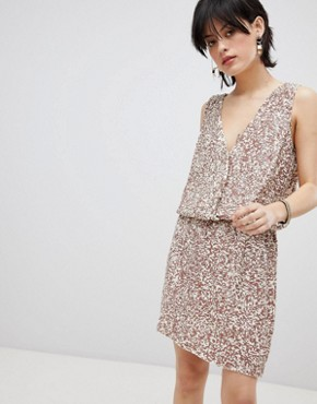 photo Horus Sequin Embellished Dress by Deby Debo, color Off White - Image 1