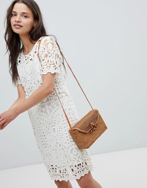 photo Guepe Crochet Lace Shift Dress by Deby Debo, color Off White - Image 1
