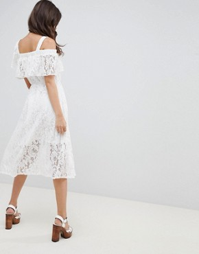 photo Lace Midi Sundress by ASOS DESIGN, color White - Image 2