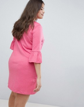 photo Ruffle Sleeve Swing Dress by Junarose, color Pink - Image 2