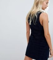 photo Cord Pinafore Dress by Urban Bliss, color Navy - Image 2
