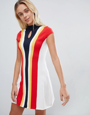 photo 60s Fit & Flare Dress by Urban Bliss, color Multi - Image 1
