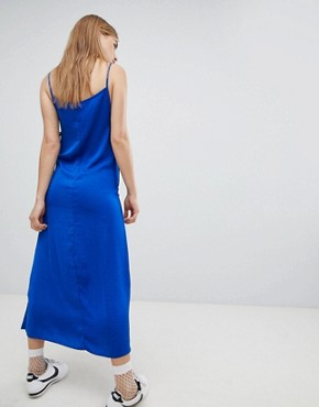 photo Satin Cami Midi Dress by Nobody's Child, color Royal Blue - Image 2