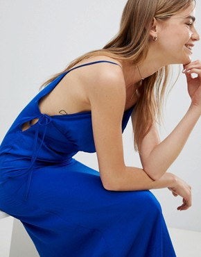 photo Satin Cami Midi Dress by Nobody's Child, color Royal Blue - Image 3