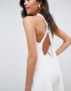 photo Strappy Cape Maxi Dress by ASOS DESIGN, color Ivory - Image 2