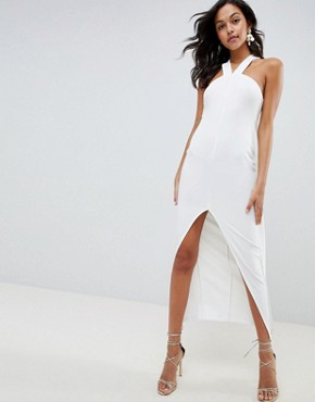 photo Strappy Cape Maxi Dress by ASOS DESIGN, color Ivory - Image 1