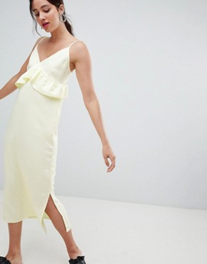 photo Frill Detail Cami Dress by Vero Moda, color Tender Yellow - Image 1