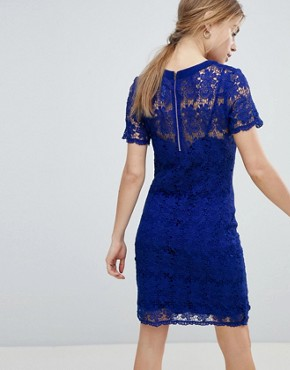 photo Lace Shift Dress by Angel Eye, color Navy - Image 2