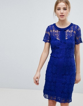 photo Lace Shift Dress by Angel Eye, color Navy - Image 1