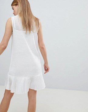 photo Ribbed Shift Dress with Pephem by Angel Eye, color White - Image 2