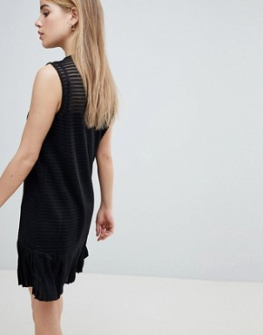 photo Ribbed Shift Dress with Pephem by Angel Eye, color Black - Image 2