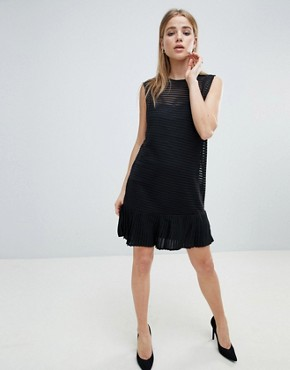 photo Ribbed Shift Dress with Pephem by Angel Eye, color Black - Image 4