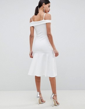 photo Bardot Fit & Flare Dress by Club L, color White - Image 2