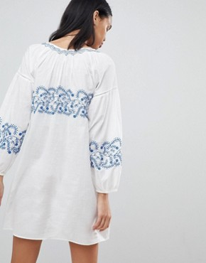 photo Kate Embroidered Tunic Dress by Pepe Jeans, color Factory White - Image 2