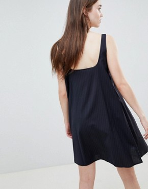 photo Jojo Stripe Slip Dress by Wood Wood, color Navy Stripe - Image 2