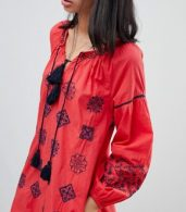 photo Kate Embroidered Tunic Dress by Pepe Jeans, color Red Hot - Image 3