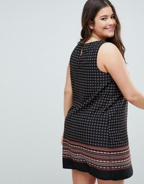 photo Printed Dress by New Look Curve, color Black Pattern - Image 2