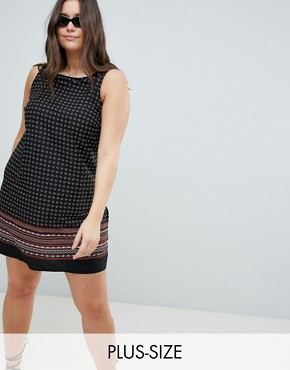 photo Printed Dress by New Look Curve, color Black Pattern - Image 1