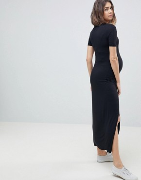 photo T-Shirt Maxi Dress by New Look Maternity, color Black - Image 2