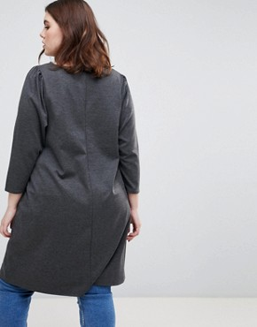 photo Longline Tunic Dress by New Look Curve, color Black - Image 2