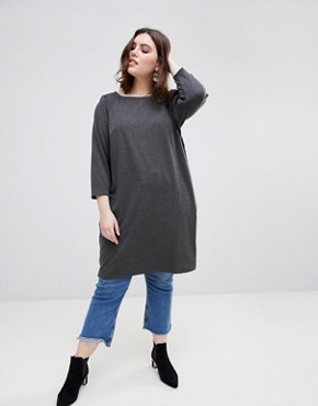 photo Longline Tunic Dress by New Look Curve, color Black - Image 4