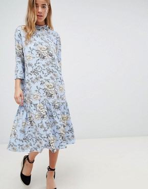 photo High Neck Floral Dress by JDY, color Multi - Image 1
