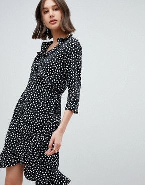 photo Printed Wrap Dress by Vero Moda, color Black - Image 1
