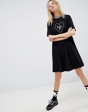 photo Bad for You Dress by Vans X Lazy Oaf, color Black - Image 1