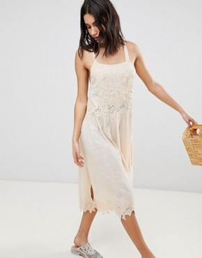 photo In Your Arms Midi Dress by Free People, color Rose - Image 1