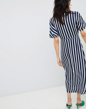 photo Wide Stripe Dress by Stradivarius, color Multi - Image 2
