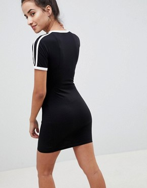 photo Stripe Bodycon T-Shirt Dress by Missguided, color Black - Image 2