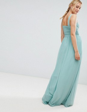 photo Embellished Top Maxi Dress in Sage by Little Mistress Tall, color Sage - Image 2