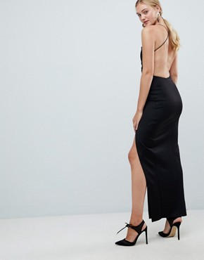 photo Strappy Maxi Dress by ASOS DESIGN Tall, color Black - Image 2