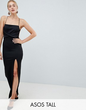 photo Strappy Maxi Dress by ASOS DESIGN Tall, color Black - Image 1