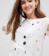 photo Slinky Smock Dress in Multi Spot by ASOS DESIGN, color Spot Print - Image 3