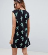photo Cactus Print Mini Swing Dress by ASOS DESIGN, color Cactus Print - Image 2
