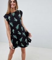 photo Cactus Print Mini Swing Dress by ASOS DESIGN, color Cactus Print - Image 1