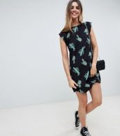 photo Cactus Print Mini Swing Dress by ASOS DESIGN, color Cactus Print - Image 4
