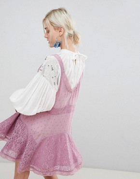 photo Any Party Trapeze Dress by Free People, color Mauve - Image 2