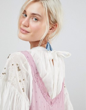 photo Any Party Trapeze Dress by Free People, color Mauve - Image 3