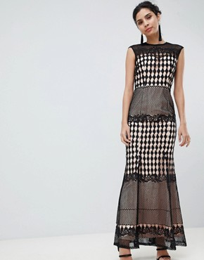 photo Crochet Maxi Dress by Little Mistress, color Black - Image 1